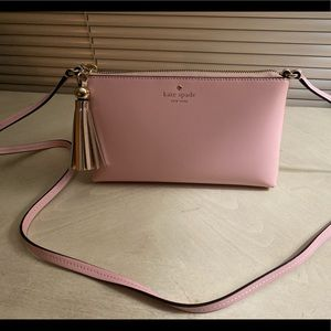 Pink leather Kate Spade crossbody
